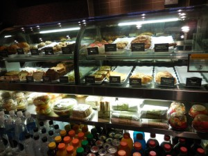Food options at Coffee Bean & Tea Leaf in Grand Canal Shoppes
